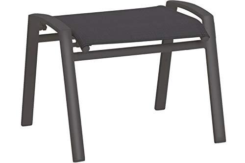 Best Stapelhocker CAVALESE 59x51x46cm, Aluminium + Kunstgewebe grau, wetterfest