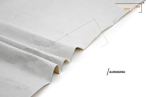 IndividualiseYourCar Mikrofaserstoff selbstklebend - ähnlich Alcantara, Wildleder Optik, Kunstleder - Stretch Folie Stoff (25cm x 146cm (75,32 €/m²), Premium Alaskagrau)