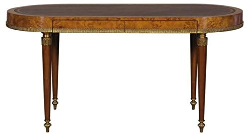 Casa Padrino Jugendstil Schreibtisch mit 2 Schubladen Hellbraun/Braun 160 x 68 x H. 77 cm Büromöbel