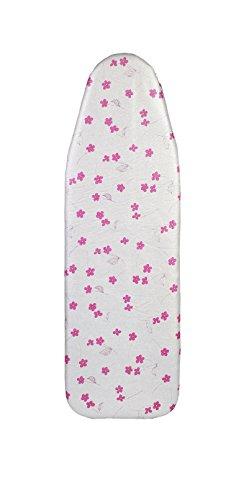 Saphare, copriasse da stiro, stampa a fiori, arricchito con alluminio e teflon PURPLE
