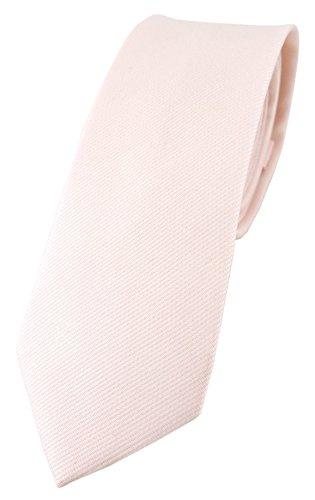 TigerTie schmale Designer Krawatte in zartrosa Uni - 100{5202f1c5c0d21af184d1ba83c21f1c5a12b5cf74713d4fa1efce7748389805a1} Baumwolle - Krawattenbreite 6 cm