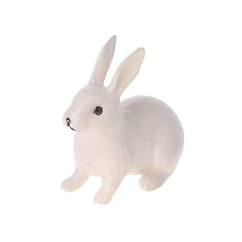 Karrychen Adorno de Conejo Figura en Miniatura Decoración de jardín de Hadas Terrario de...