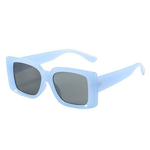 N\C Moda Rectángulo Gafas De Sol Mujeres Vintage Decoración De Uñas Espejo Degradado Gafas Hombres Sombras U V400 Cuadrado Sol Gafas