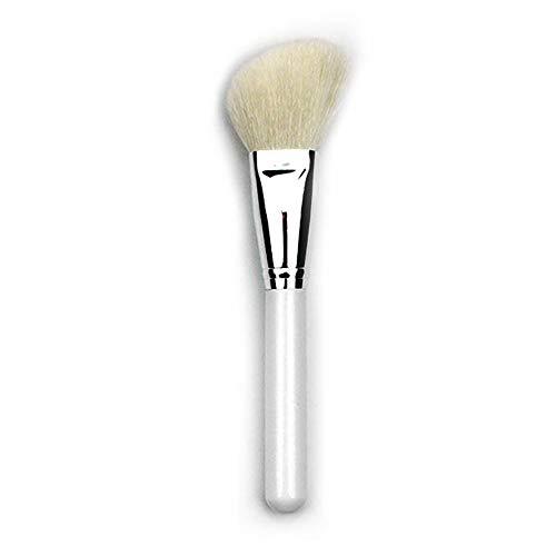 Rouge-Pinsel, Make-up-Pinsel, Tierhaar, abgeschrägt, Weiß, 3 Stück