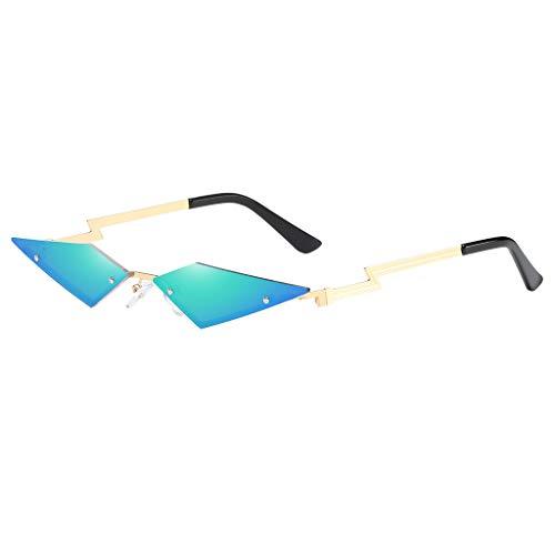 Lazzboy Frauen Vintage Katzenaugen-sonnenbrille Retro Kleine Rahmen Unregelmäßige Mann Cat Eye Sonnenbrillen Brillen Shades(Grün)