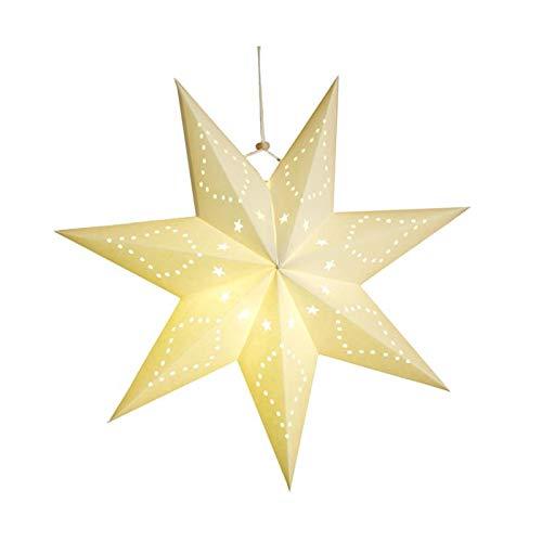 Pantalla de lámpara de 45 cm hueco estrella fiesta luz ventana rejilla de papel linterna estrellas pantalla lámpara jardín colgante decoración para fiesta de Navidad tipo 2
