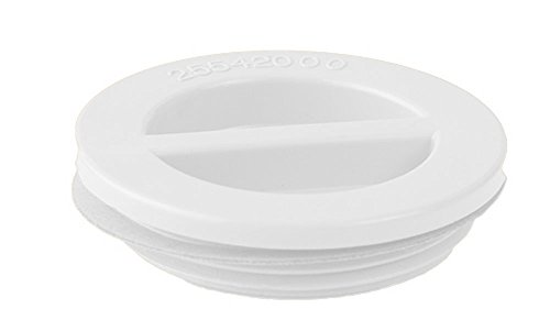 Custom 25542-000-000 3,81 cm MIP Flat Piscine Bouchon avec Joint - Blanc
