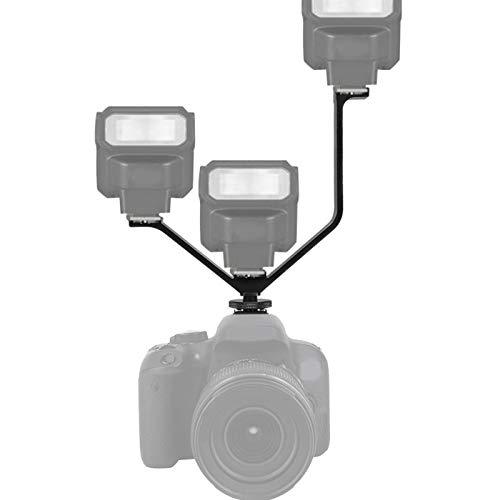 Supporto per pattini freddi 6,5 pollici Lega di alluminio a forma di V Porta per pattini freddi universale Triplo 3 universale, per Nikon, per monitor