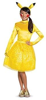 Disguise Pikachu Pokemon Classic Girls  Costume Yellow L  10-12
