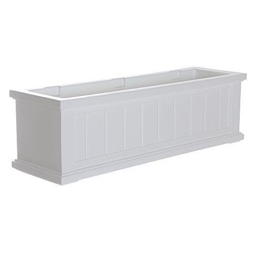 Mayne 4840-W Cape Cod Polyethylene Window Box, 3', White