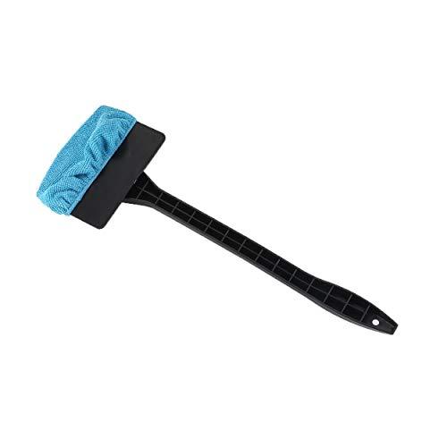 Tragbare Kunststoff-Windschutzscheibe Einfacher Reiniger Einfache Mikrofaser Reinigen Sie schwer zugängliche Fenster an Ihrem Auto oder zu Hause - Schwarz