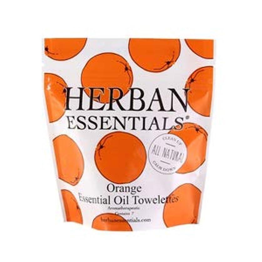 花弁リアル伝染性ハーバンエッセンシャルズ HERBAN ESSENTIALS アロマタオル ミニ オレンジ 7包