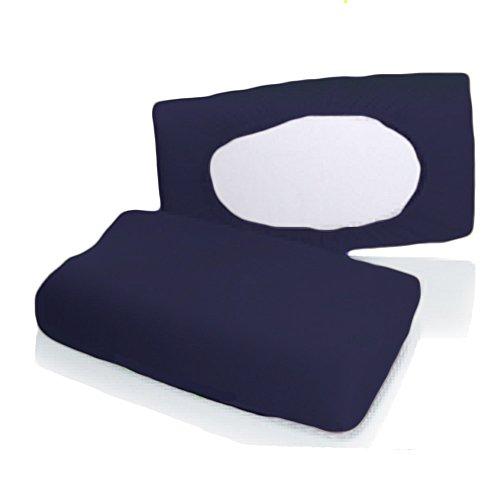 Bellana Gesundheitskissen Bezug Mako Jersey 30-50 x 40-80 cm und 8-15 cm Höhe cm Farbe: Marine