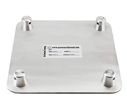 Alu System Trussing AST, Traverse 4 Punkt, Deco Truss, Bodenplatte male - Alu Traversen Aluminium Truss Alu System Trussing AST Traverse