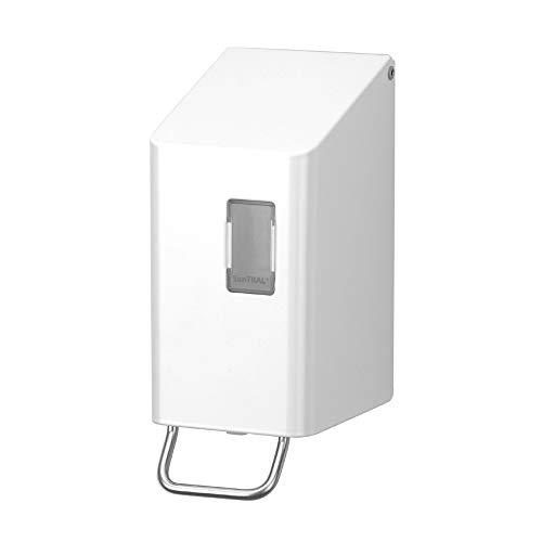 OPHARDT Hygiene 1415831 SanTRAL NSU 2 P/S Weißer Seifenspender, 250 ml, Edelstahl