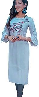 Indian Rayon Kurti Pant set for Women