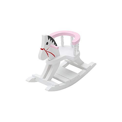 LQKYWNA 1/12 Miniatura Modelos Muebles De La Sala De Caballo De Oscilación Mini Infantiles para Muñecas DIY Jugar Juegos Juguetes Inicio Decoración (Rosado)