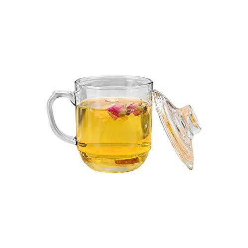 YUEMING Taza de té, Vidrio, Taza de café, Taza Transparente, Vidrio de borosilicato Resistente al Calor, Taza, Taza de té,...