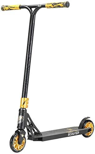 STAR SCOOTER Patinete de Acrobacias Profesional Patineta Freestyle Stunt Scooter para niños y niñas a Partir de 8 años | 120 mm Edición Pro HIC | Negro Oro