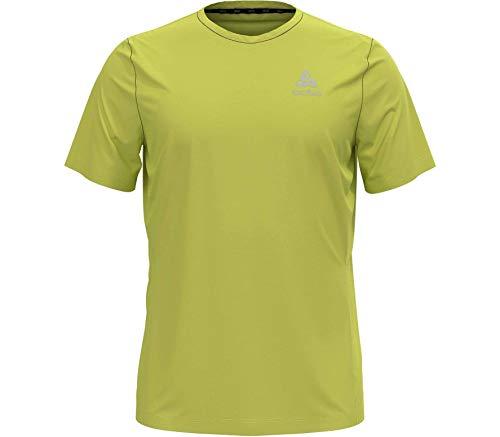 Odlo Herren T-Shirt s/s Crew Neck Element Light Print, Limeade, M