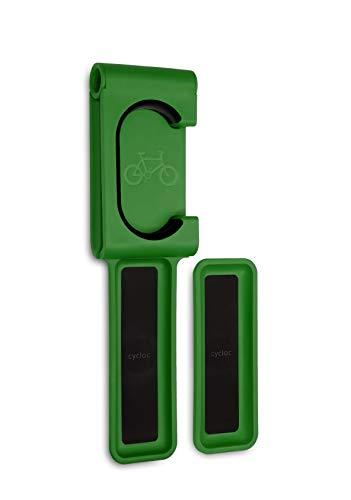 Cycloc Fold, Flat Vertical, Space Saving Bicycle Storage - Green
