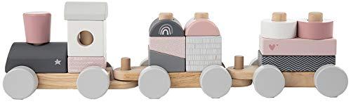 Label Label Holzeisenbahn und Steckspielzeug für Babys, rosa LLWT-25163