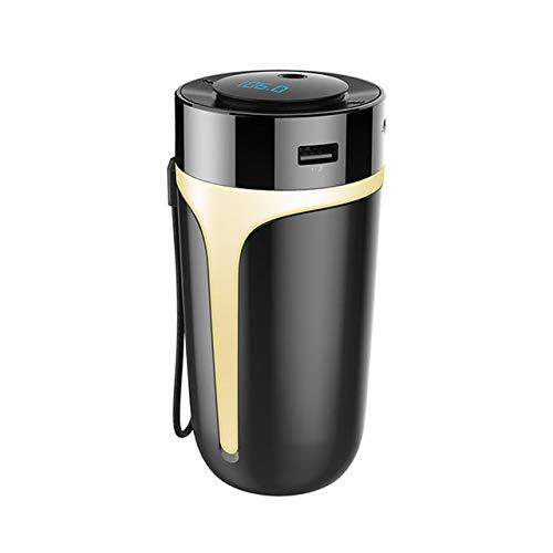 MZTYX 300Ml Humidificador De Aire para Coche Bluetooth 5,0 SQ MP3 Difusor De Aromaterapia Difusor De Aroma De Aceite Esencial Ultrasónico Con Luz Nocturna LED Suitable for Home Office Bedroom