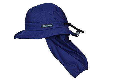 Chaskee Sonnenhut Bob Neck Protection, einzipbarer Nackenschutz und UV-Schutz 80, Farbe:Navy, Groesse:M/L