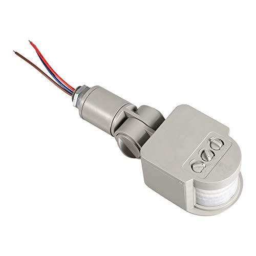 Tomantery Interruptor del Inductor, Detector Gris del Sensor del Cuerpo del Sensor de Movimiento del Interruptor del Detector para Las lámparas para la luz de la Pared