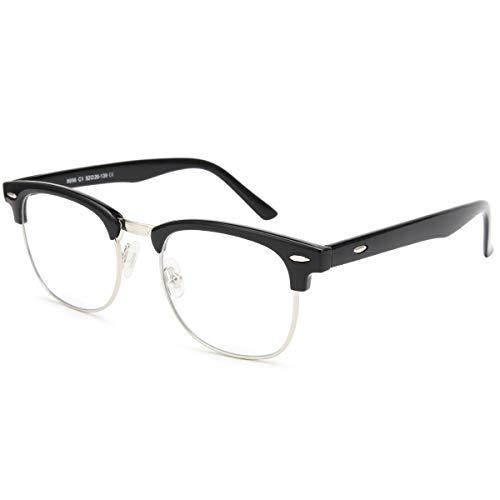 Livhò Blue Light Blocking Glasses, Phone TV Computer Gaming Glasses, Anti Eyestrain/Filter Ray Lens, Sleep Better for Women MenLight Black)