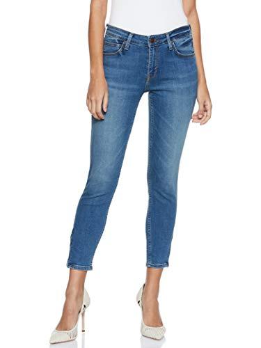 Lee Damen Scarlett Cropped Jeans, Ninety Nine Hazv, 27W / 33L