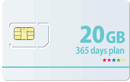 Docomo 日本国内専用最大20GB利用可能365日プランSIMカード1日の制限無し!※面倒な契約不要 docomo MVNO回線データ専用 使い切りプリペイドSIMカード SIMリリースピン付