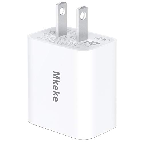 Mkeke 20W for Apple iPhone 12 Charger Block/iPhone 12 Pro Max Charger Adapter/USB Type C Wall Charger for iPhone 11 Power Adapter 1-Pack