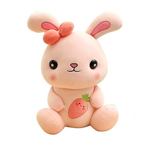 HJHJK Huggable Cute Soft Rabbit Plüschtier für Kinder Gefüllte Häschen Tierpuppe Kinder Baby Kawaii Appease Toy Nettes Geburtstagsgeschenk (Size : 50cm)