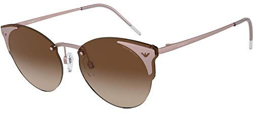 Emporio Armani 0EA2082 Gafas de sol, Matte Rose Gold, 58 para Mujer