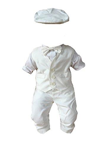 Soffi Kids Sommer Taufanzug Festanzug Hochzeit Anzug ver Farben (80, Weiß)
