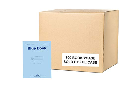 Roaring Spring Test Blue Exam Book, 1 Case (300 Total), Wide Ruled...