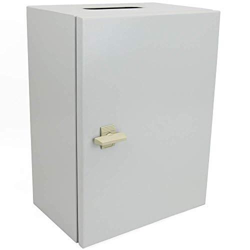 Cablematic - Caja de distribución eléctrica metálica con protección IP65 para fijación a pared 300x200x200mm