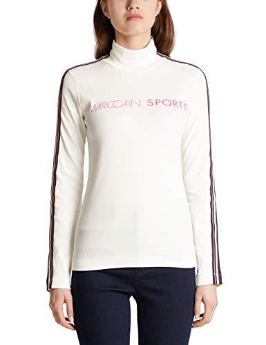 Marc Cain Sports Damen MS 48.41 J76 Rollkragenpullover, Weiß (Off-White 110), 38 (Herstellergröße: 3)