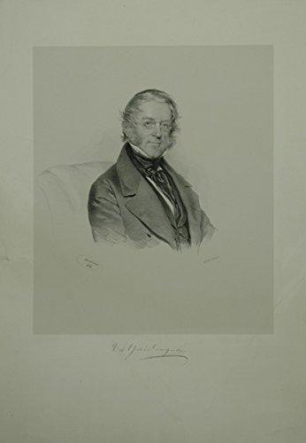 Portrait. Brustfigur nach halbrechts. Lithographie auf aufgewalztem Chinapapier von Josef Kriehuber, unten mit der faksimilierten Signatur von Haidinger.