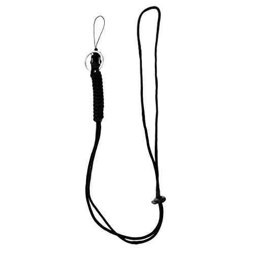 SM SunniMix Umhängeband Trageband Geflochten Schlüsselband Lanyards für Taschenlampe, Handys, USB Sticks, Schlüssel - schwarz