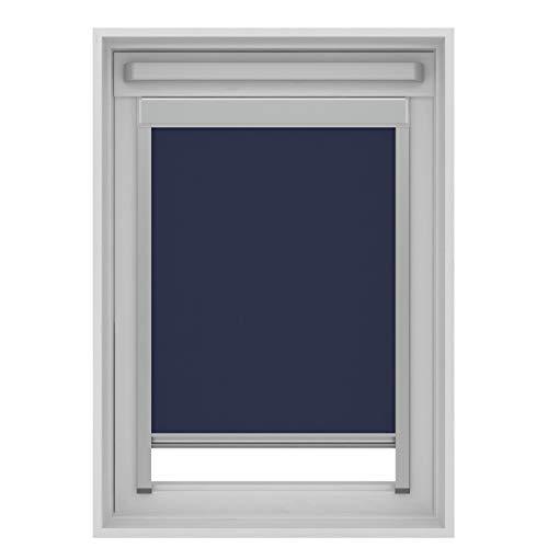 Karwei Store enrouleur occultant pour fenêtre de toit Velux S06/606/4 (114x118 cm) Bleu