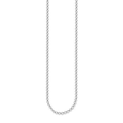Thomas Sabo Collar de Mujer con Plata de Ley 925/1000, 70 cm