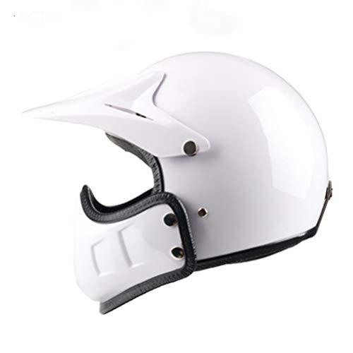 Casco de moto Motocross vintage Retro Cafe Racer Vespa Open Face Kask Full Face Casco Moto Modular Moto Helmet DOT