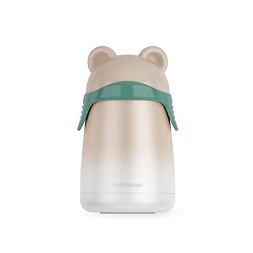 LangCher Taza de Viaje de café a Prueba de Fugas con Aislamiento al vacío Mini Frasco Lindo Mini Botella de Agua de Acero Inoxidable de Doble Pared Gratis for niños niños Adultos (Color : A)