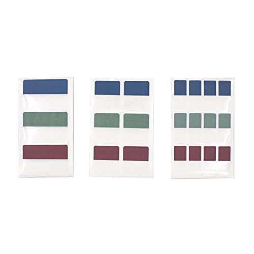 JomMart シンプル インデックスシール 透明 濃い3色 大30枚 中60枚 小120枚 セット 合計210枚 SY0913