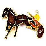 限定 レア ピンバッジ 二輪馬車のレース競馬 ピンズ フランス 289146