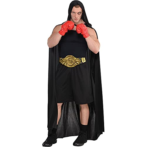 Party City Boxing Halloween Costume and Accessories Set for Adults, One Size, Includes Robe and Champion Belt
