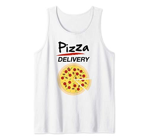 Disfraz de Repartidor Pizzas para Grupos Hombre Mujer Nios Camiseta sin Mangas