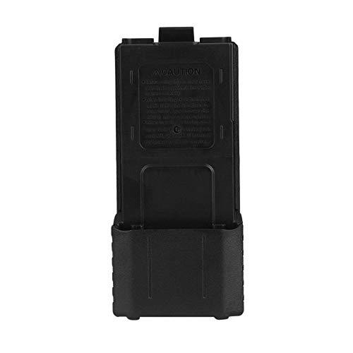 LMJI Caja de batería de plástico Negro para Baofeng F8 F9 UV-5R Radio bidireccional Walkie Talkie, Negro